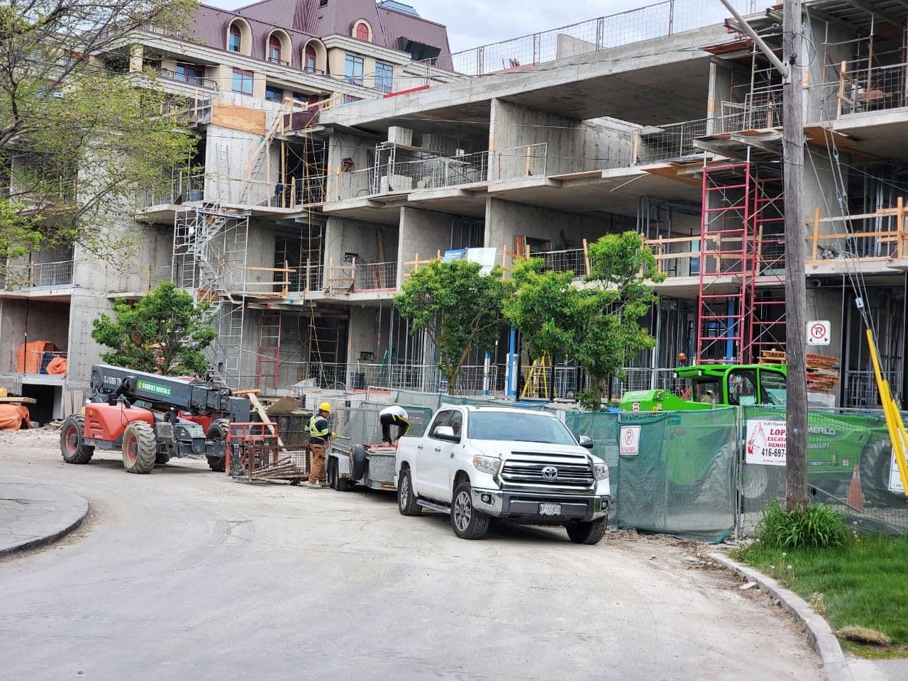 Residential Concrete Forming Project at 12 Dervock crescent, North York , Toronto 3
