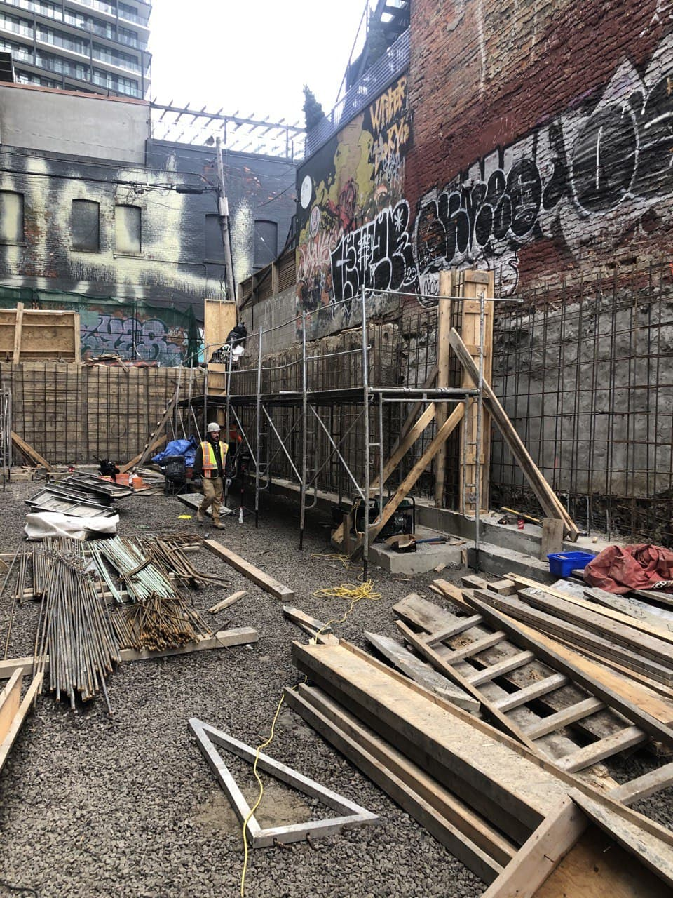 Residential Concrete Forming Project at 369 Queen st west , Toronto 3