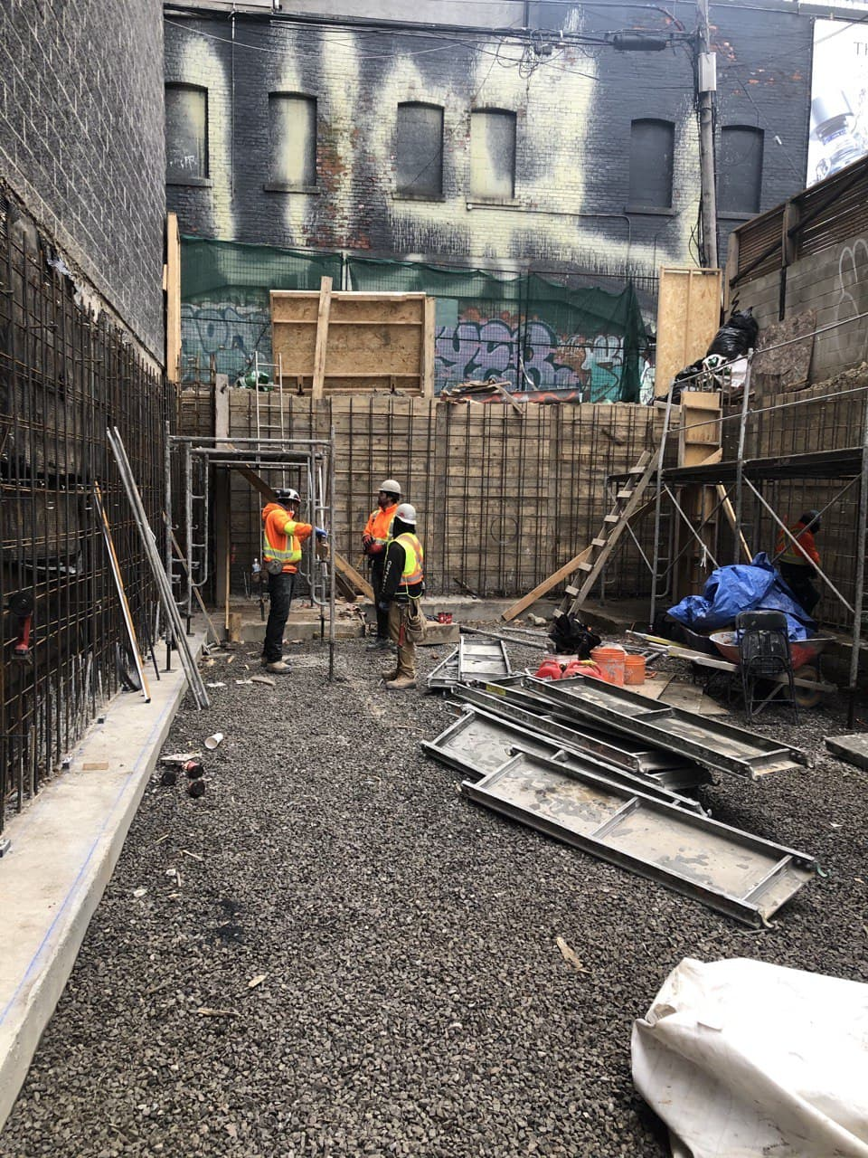 Residential Concrete Forming Project at 369 Queen st west , Toronto 4